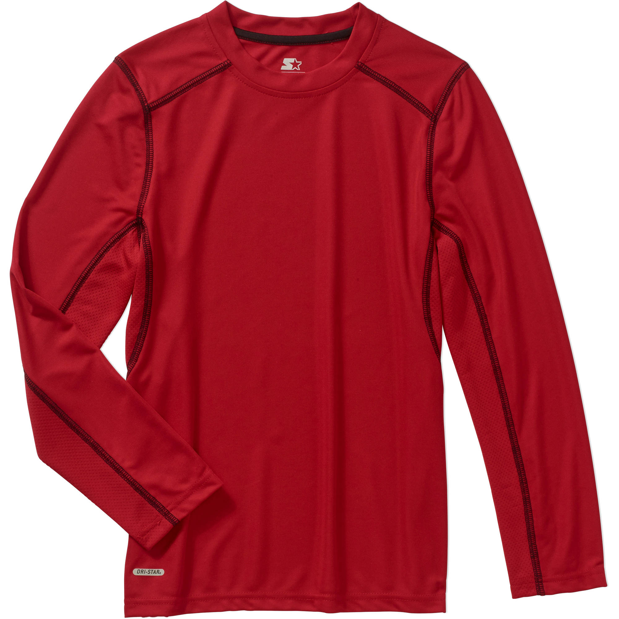 Starter Boys' Long Sleeve Poly Pieced Tee