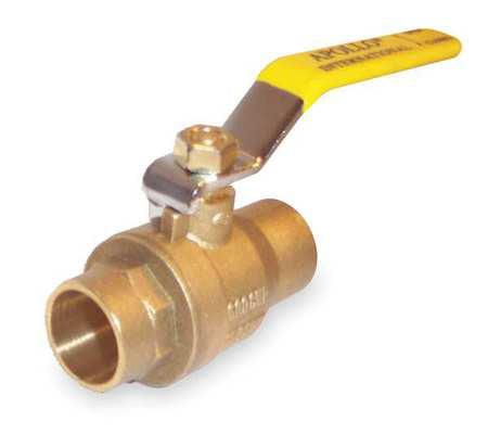 APOLLO Brass Ball Valve,Inline,Sweat,1/2 in 94A20301