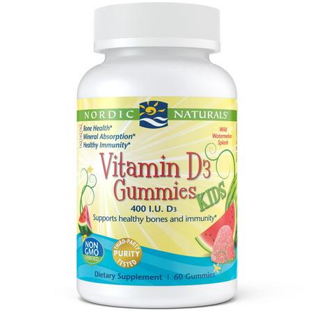 Nordic Naturals Vitamin D3 Kids Gummies, 400 IU, 60 Ct
