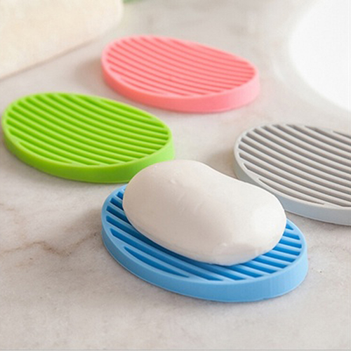 Moderna Creative Silicone Flexible Soap Plate Holder Bathroom Toilet Soapbox Soap Dish