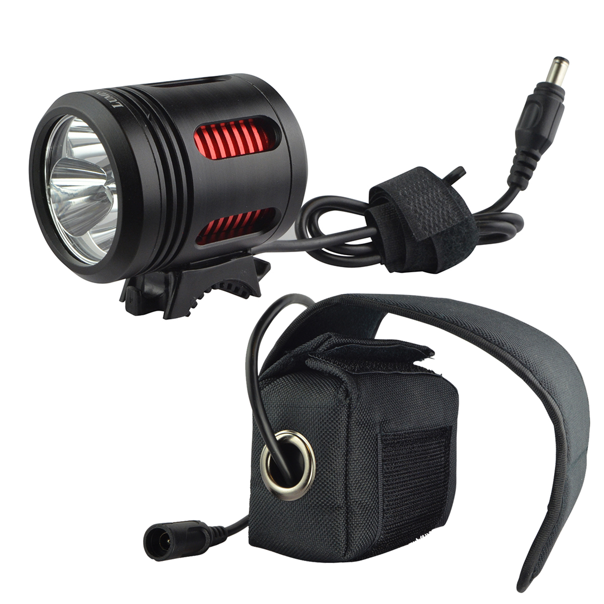 Lumintrail 3000 Lumen LED Bicycle Headlight Set with Rechargeable 7200mAh Battery Pack and Included Helmet Strap for Hiking Camping