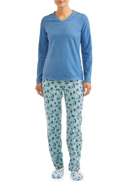 Hanes Women's 3-Piece Pajama Set (Top, Pant, Slipper Sock)