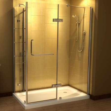 Aston 60 x 32-inch Clear Glass Frameless Shower Enclosure with ...