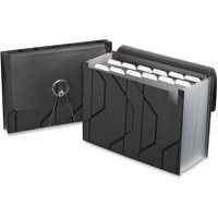 Pendaflex Sliding Cover Expanding File, Black, 1 Each (Quantity)