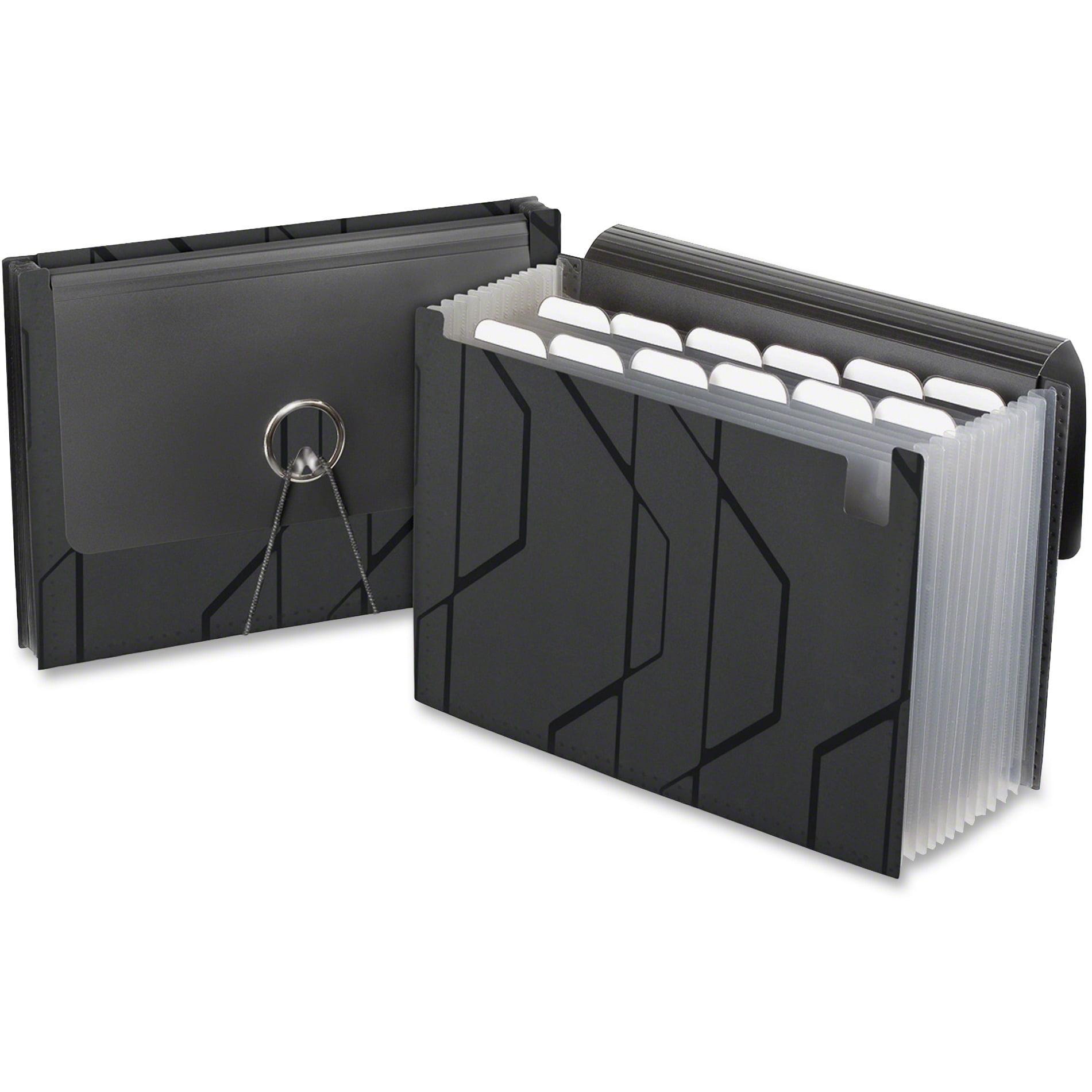 Pendaflex, PFX02327, Sliding Cover Expanding File, 1 Each, Black