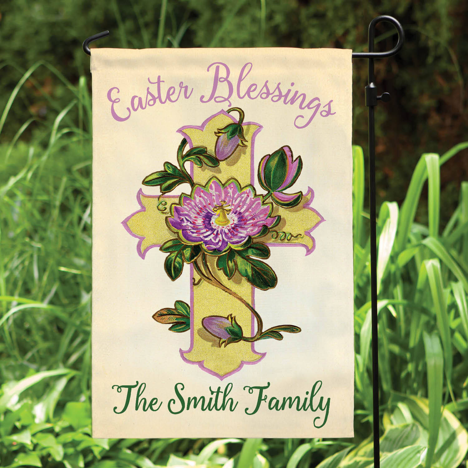 Personalized Easter Blessings Garden Flag