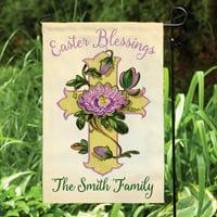 Personalized Easter Blessings Garden Flag
