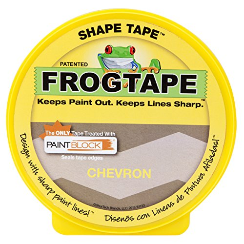 282549 Shape Tape Painting Tape, Chevron Design, 1.81-Inch x 25-Yard Roll, Ship from USA, Brand FrogTape