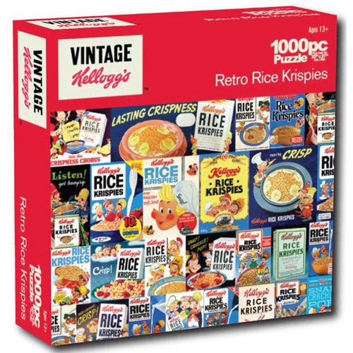 Kelloggs 1,000-Piece Puzzle, Retro Rice Krispies