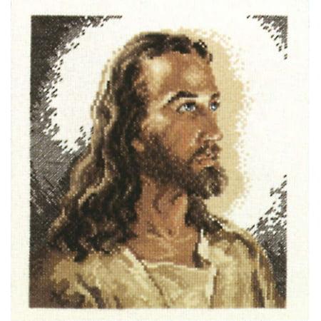 "Portrait Of Christ Counted Cross Stitch Kit-6.875""X7.75"" 14 Count - image 1 de 1"