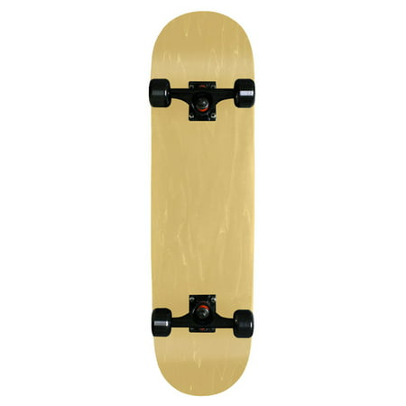 Blank Pro Complete Skateboard Natural 8 Black Trucks Black Wheels