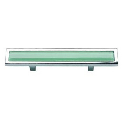 "Atlas 231-GR/CH 5-3/4"" Spa Green Pull, Polished Chrome"
