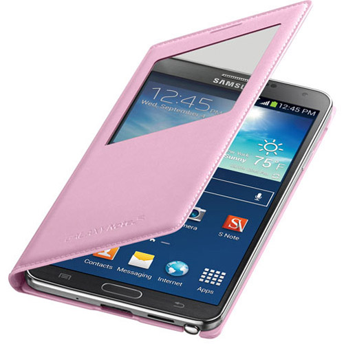 Samsung - Flip Case For Samsung Galaxy Note 3 Cell Phones - Pink