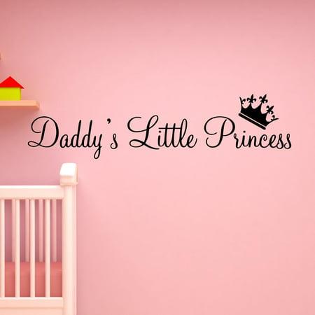 VWAQ Daddy\'s Little Princess Nursery Wall Decals Cute Baby ...