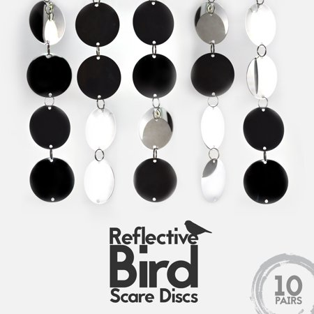 Bird Repellent Discs 10 Pc With 20 Large Disks Highly Reflective Double Sided Deter To Keep All Birds Away