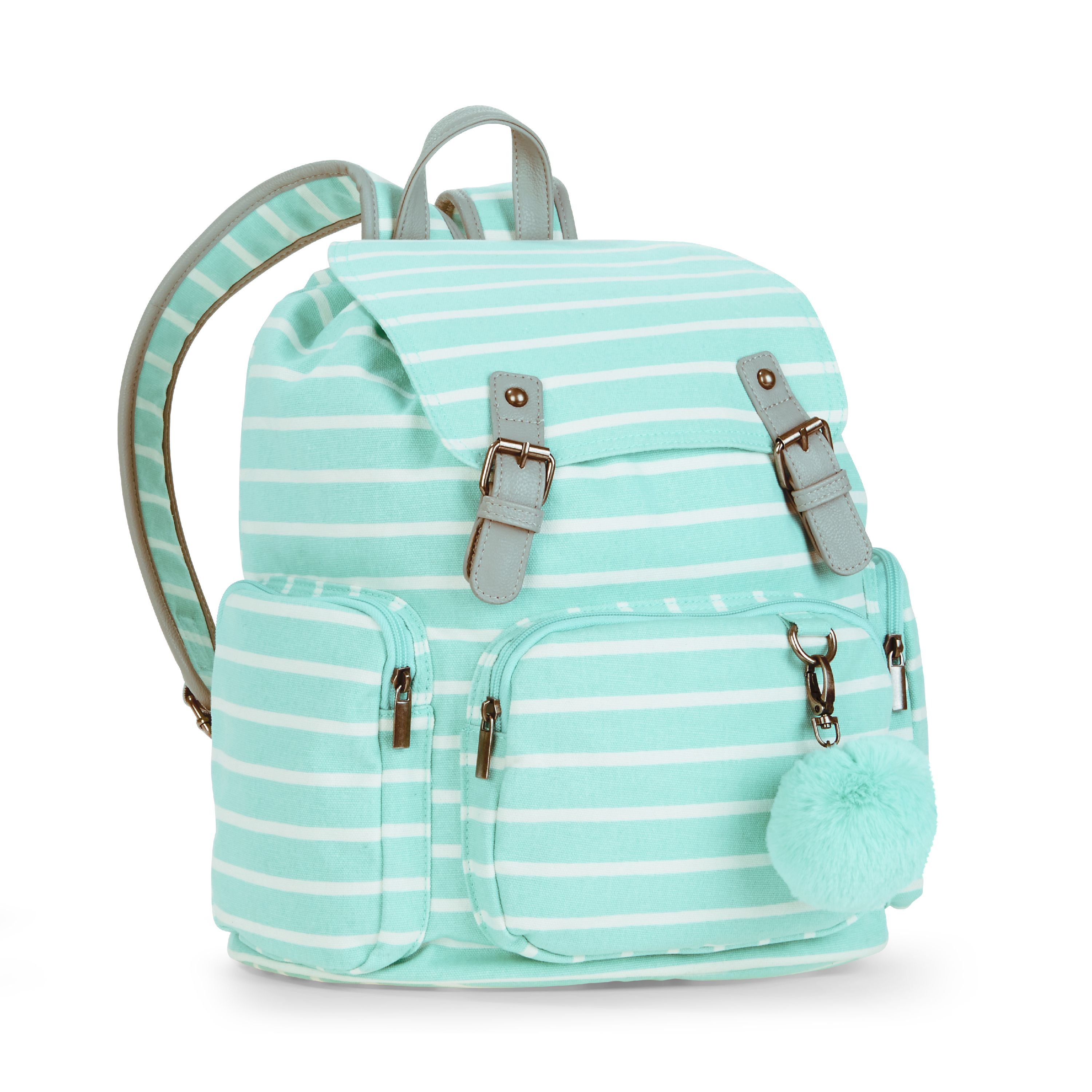 No Boundaries Mint Stripe Cargo Backpack