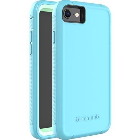 Blackweb Rugged Phone Case with Rotating Holster For iPhone 6/iPhone 6s/iPhone 7/iPhone 8 - Teal ()