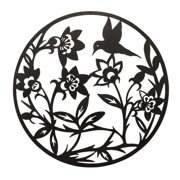Bay Accents Round Flower Garden and Bird Metal Wall D cor