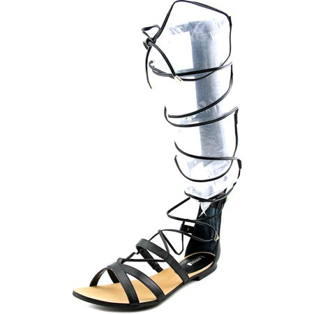 Guess Mylanie 3 Women  Open Toe Leather Black Gladiator Sandal