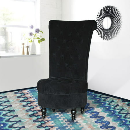 HomCom Tufted High Back Velvet Accent Chair