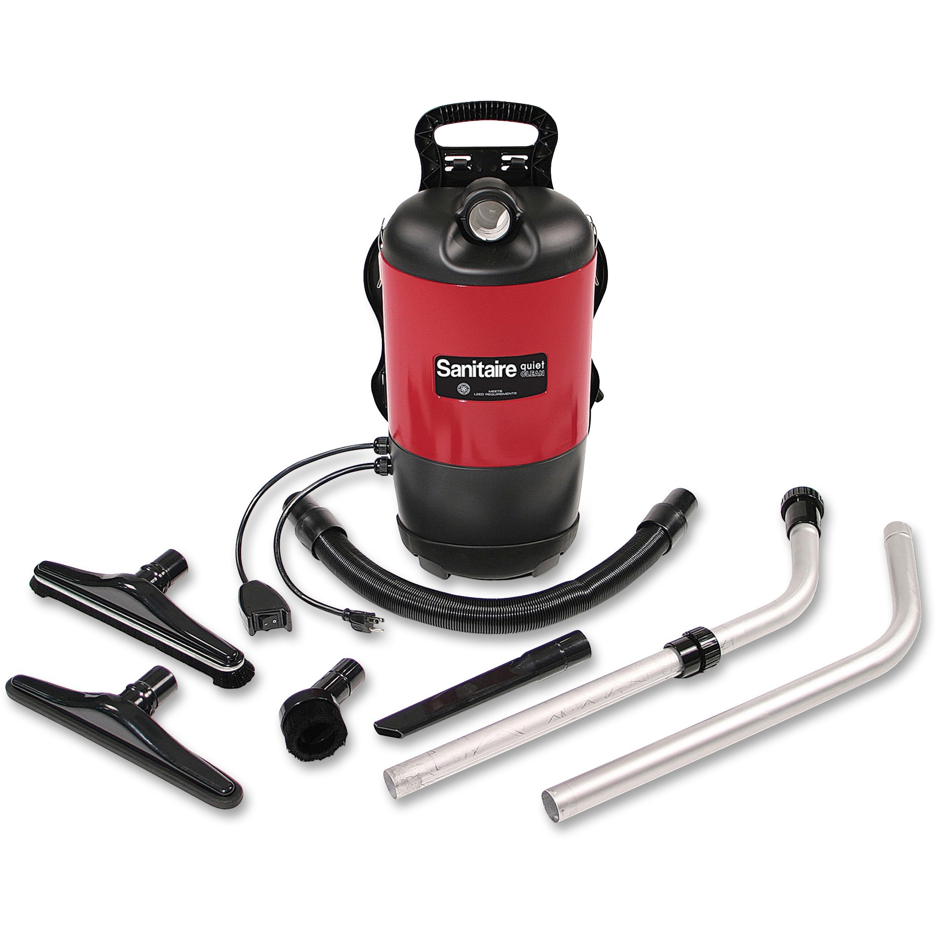 Sanitaire, EURSC412B, Backpack Vacuum, Red