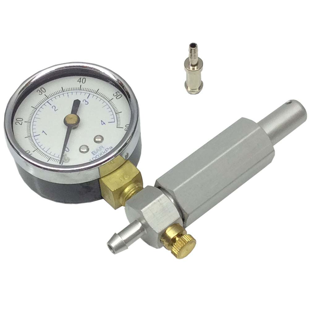 Pressure Test Pump Gauge 0-60 PSI Walbro Carburetors Leak...