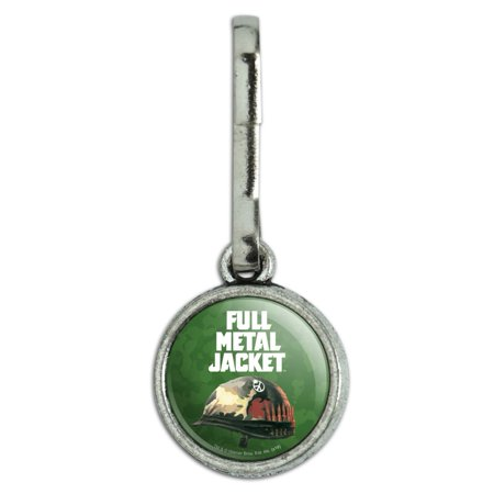 Full Metal Jacket Born to Kill Antiqued Charm Clothes Purse Suitcase Backpack Zipper Pull