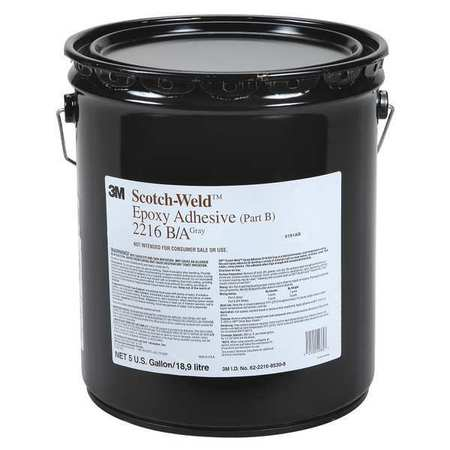 3M 2216 Epoxy Adhesive, Part B, 5 gal, Gray by 3M