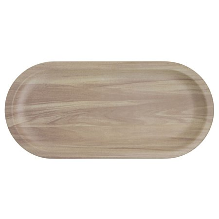 Serving Platter with Butcher Block Finish Oval -12 1/2 L x 5 7/8 W