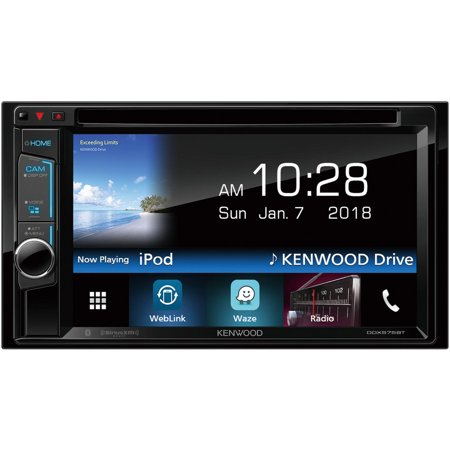 Kenwood Ddx575bt 6 2   Double Din In Dash Dvd Receiver With Bluetooth   Siriusxm Ready