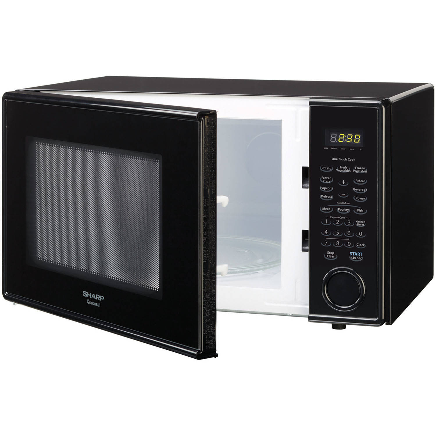 Almo Distributing Wisconsin Inc 1.1CUFT BLK Microwave