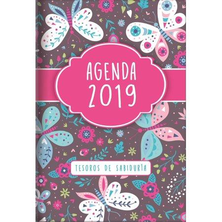 2019 Agenda - Tesoros de Sabiduría - Mariposas : Con Un Pensamiento Motivador O Un Versículo de la Biblia Para Cada Día del Año](Make Para O Halloween)