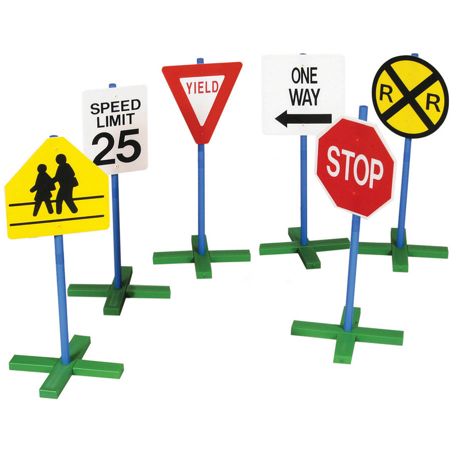Guidecraft Drivetime Signs, Set of 6