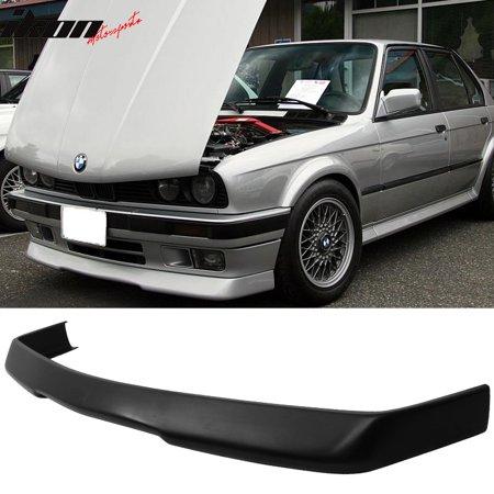 Bmw Front Spoiler (Fits 84-92 BMW E30 3-Series RG Style Front Bumper Lip Spoiler Black-PolyUrethane )