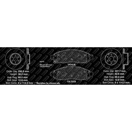 Max Brakes Front & Rear Elite Brake Kit [ E-Coated Slotted Drilled Rotors + Metallic Pads ] TA037883 | Fits: 2009 09 Nissan Pathfinder V6 Models w/ 11.65'' Front Rotor Dia - image 1 de 8