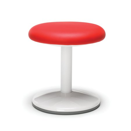 OFM Orbit Series Model 2814-STA-V 14u0022 Vinyl Static Stool, Red