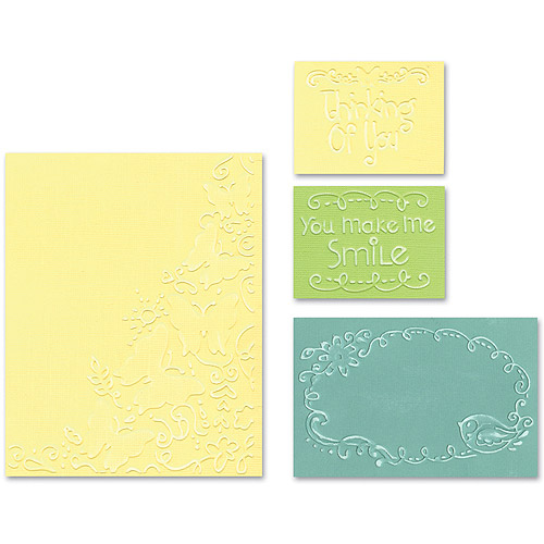 Sizzix Textured Impressions Embossing Folders, Butterfly Migration Set