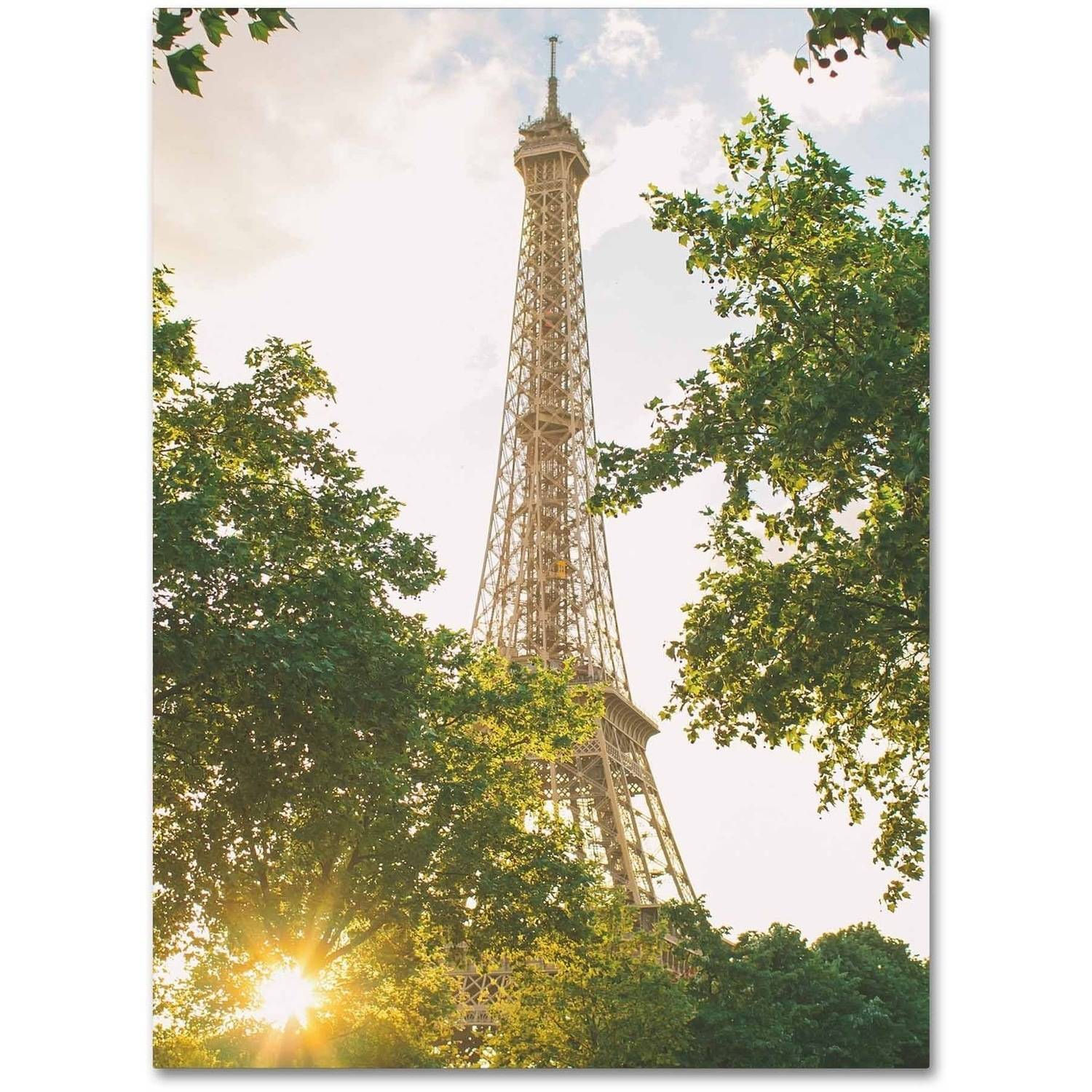 Trademark Fine Art 'Eiffel Tower Sunset' Canvas Art by Ariane Moshayedi