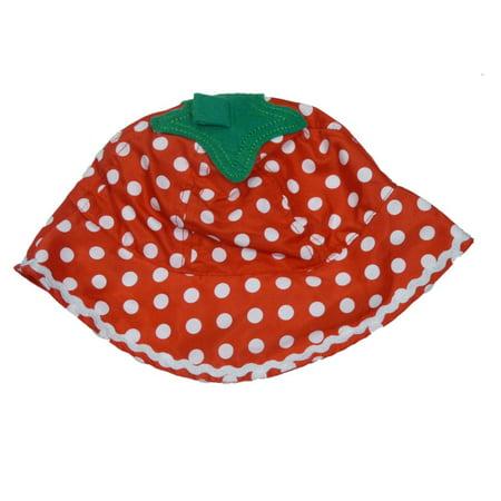 8efe37e22 ABG Infant Girls Red Polka Dot Sun Hat Floppy Strawberry Bucket Cap