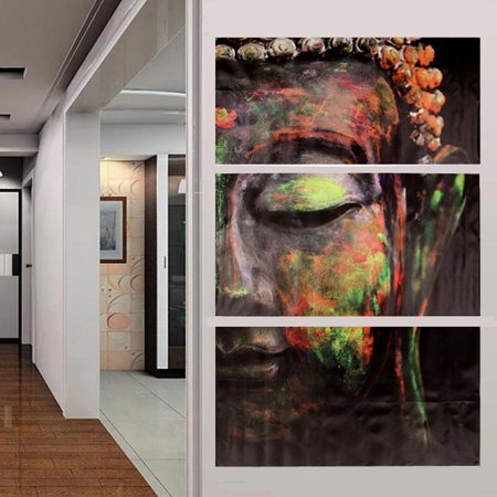- Unframed 3 Panels Buddha Figure Canvas Oil Painting Picture Prints Art Home Wall Hanging Decor