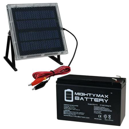 12V 9AH Replaces Eagle Picher CF12V7 2 12V Solar Panel