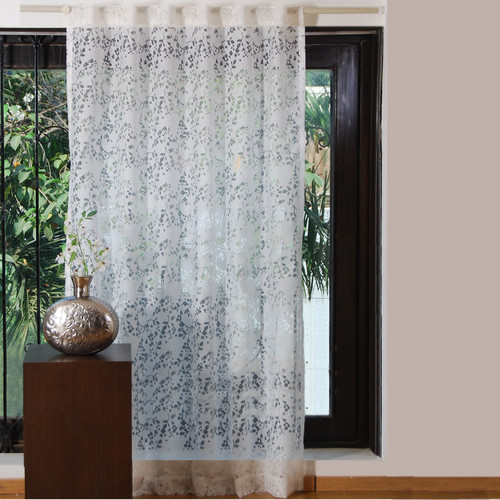 Textrade Sweet Flower Burnout Single Curtain Panel