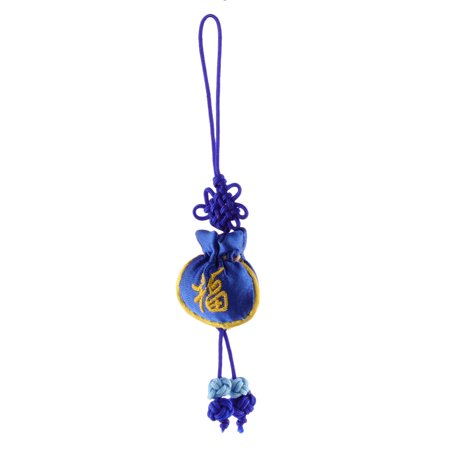 Household Chinese  Embroidery Luck Sachet Pendant Hanging Knot Dark Blue