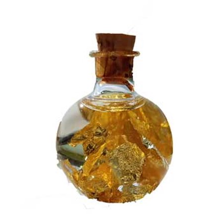 RBI Ritual Supplies Gold Flakes bottle Spiritual Protection Healing (Gold Flakes Bottle)