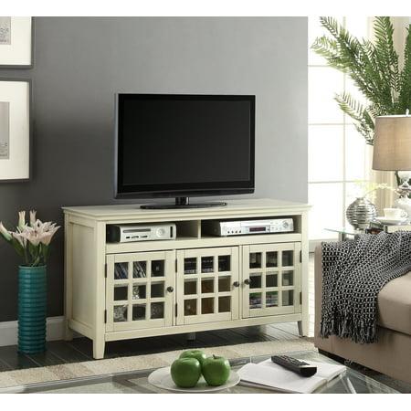- Linon Largo Media Cabinet, 3 Doors, Antique White - Walmart.com