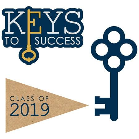 Graduation Face Cutouts (Grad Keys to Success - 2019 Graduation DIY Shaped Party Cut-Outs - 24)