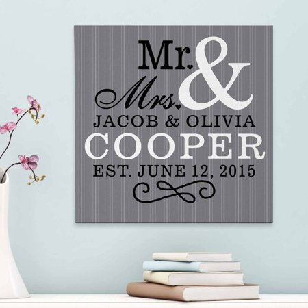 Personalized Mr and Mrs Canvas - Walmart.com