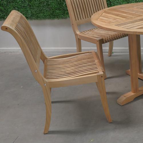 HiTeak Furniture Stacking Teak Patio Dining Chair