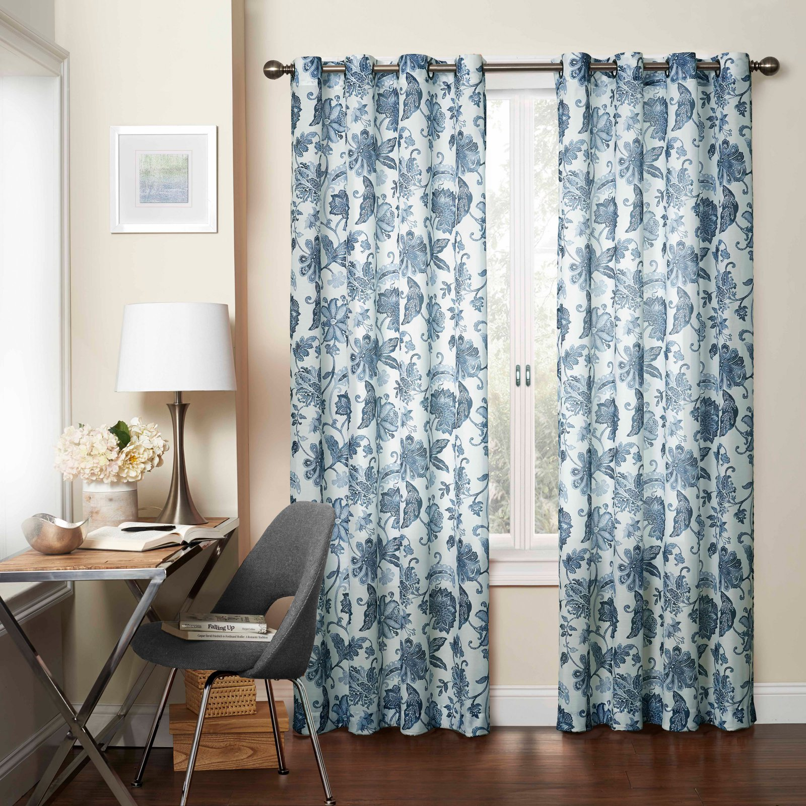 Eclipse Wythe Floral Light Filtering Sheer Curtain