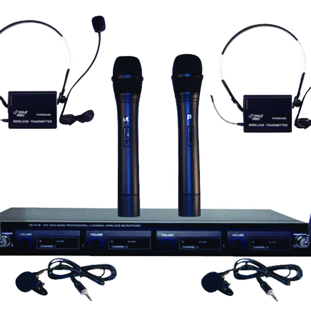 4-Microphone VHF Wireless Microphone System by Petra Industries